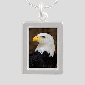 American Bald Eagle Silver Portrait Necklace