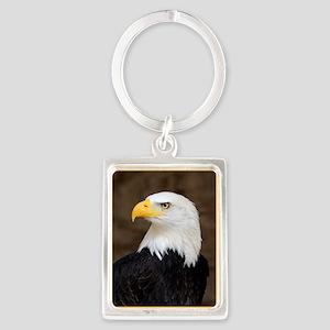 American Bald Eagle Portrait Keychain