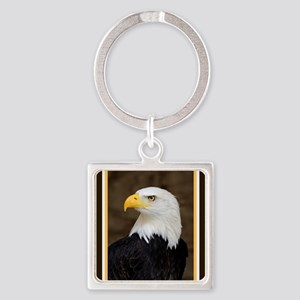American Bald Eagle Square Keychain