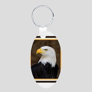 American Bald Eagle Aluminum Oval Keychain