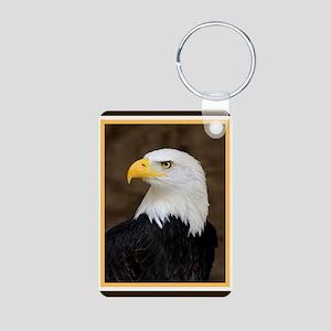 American Bald Eagle Aluminum Photo Keychain