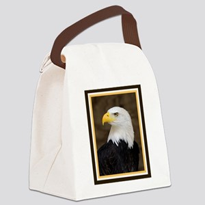 American Bald Eagle Canvas Lunch Bag