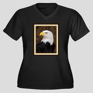 American Bald Eagle Women's Plus Size V-Neck Dark