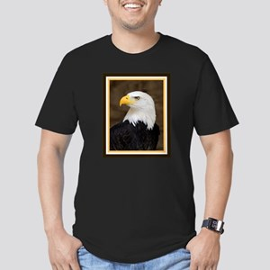 American Bald Eagle Men's Fitted T-Shirt (dark)