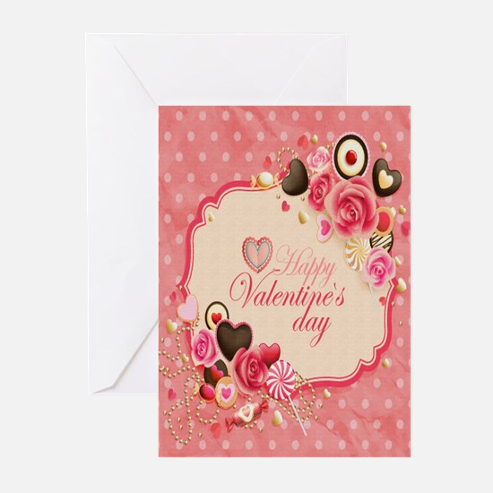 Happy Valentines Day to my love Greeting Cards (Pk