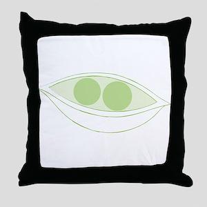 Peas Throw Pillow
