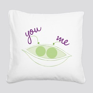 You And Me Square Canvas Pillow