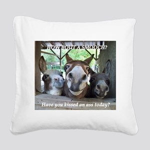 KISS THIS Square Canvas Pillow