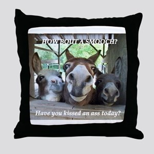 KISS THIS Throw Pillow