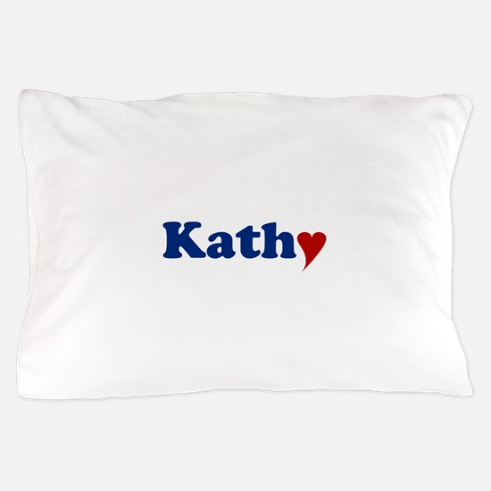 Kathy with Heart Pillow Case