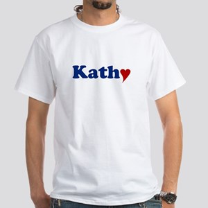 Kathy with Heart White T-Shirt