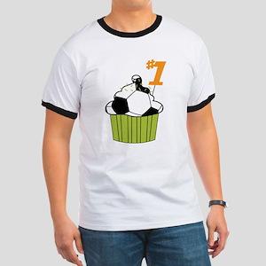 Soccer Cupcake Ringer T