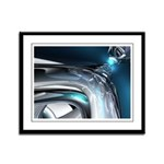 Reflections of Blue Framed Panel Print