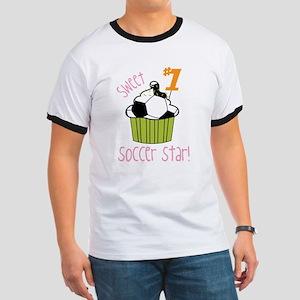 Sweet Soccer Star Ringer T
