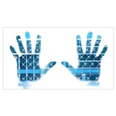 Cybernetic hands Poster