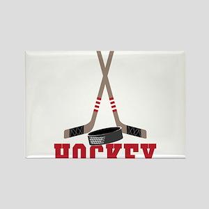 Hockey Rectangle Magnet
