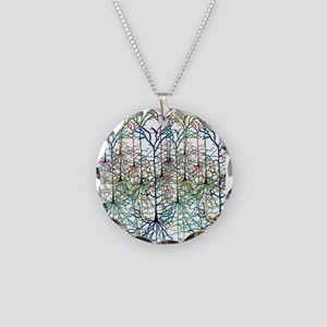 More Neurons Necklace Circle Charm
