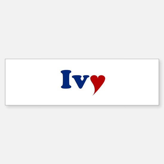Ivy with Heart Sticker (Bumper)