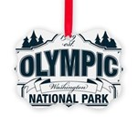 Olympic National Park Blue Sign Picture Ornament