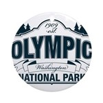 Olympic National Park Blue Sign Ornament (Round)