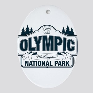 Olympic National Park Blue Sign Ornament (Oval)