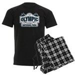Olympic National Park Blue Sign Men's Dark Pajamas