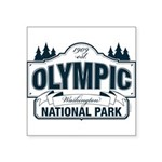 Olympic National Park Blue Sign Square Sticker 3""