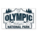 Olympic National Park Blue Sign Sticker (Rectangle