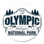 Olympic National Park Blue Sign Round Car Magnet