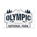 Olympic National Park Blue Sign Rectangle Car Magn