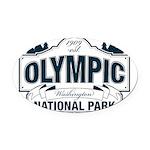 Olympic National Park Blue Sign Oval Car Magnet