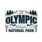 Olympic National Park Blue Sign Rectangle Magnet (