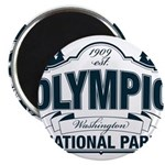 "Olympic National Park Blue Sign 2.25"" Magnet (10 p"