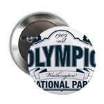 "Olympic National Park Blue Sign 2.25"" Button (100"