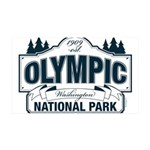Olympic National Park Blue Sign 35x21 Wall Decal