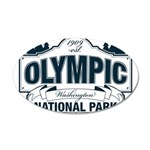 Olympic National Park Blue Sign 35x21 Oval Wall De