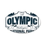 Olympic National Park Blue Sign 20x12 Oval Wall De
