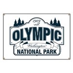 Olympic National Park Blue Sign Banner