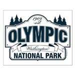 Olympic National Park Blue Sign Small Poster