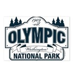 Olympic National Park Blue Sign Postcards (Package
