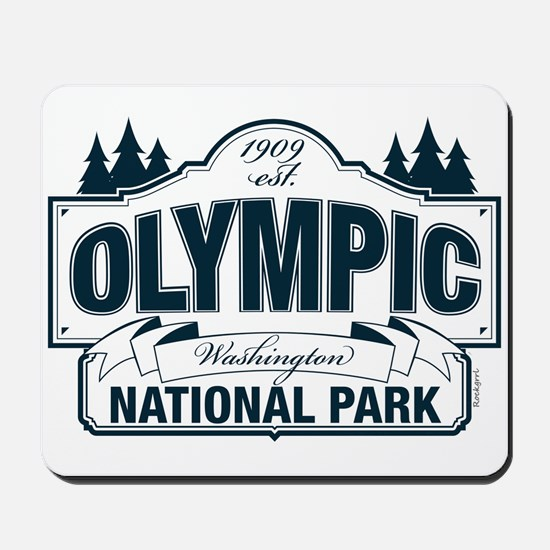 Olympic National Park Blue Sign Mousepad