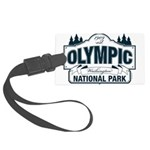 Olympic National Park Blue Sign Large Luggage Tag