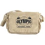 Olympic National Park Blue Sign Messenger Bag