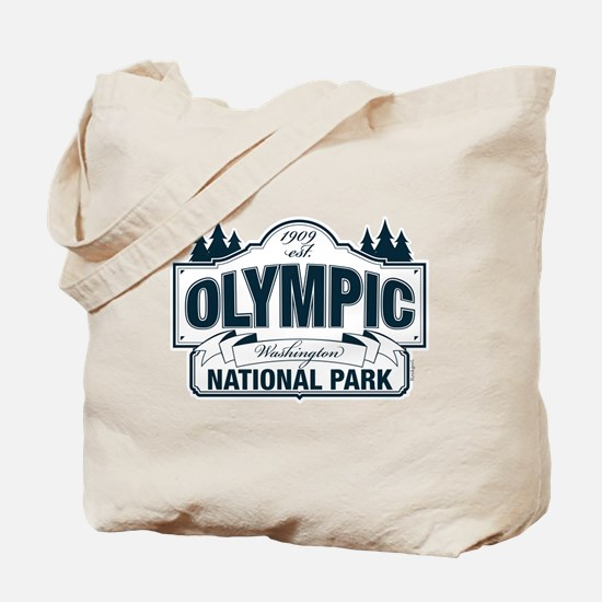 Olympic National Park Blue Sign Tote Bag