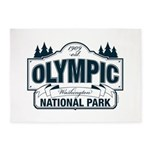 Olympic National Park Blue Sign 5'x7'Area Rug