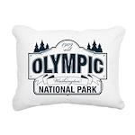 Olympic National Park Blue Sign Rectangular Canvas