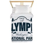 Olympic National Park Blue Sign Twin Duvet