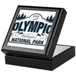 Olympic National Park Blue Sign Keepsake Box