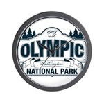 Olympic National Park Blue Sign Wall Clock