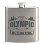 Olympic National Park Blue Sign Flask